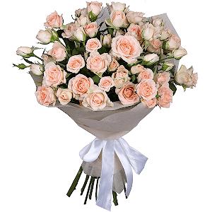 Букет из 11 кустовых роз с доставкой в Казани