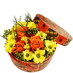 Цветы в коробке Солнечный лучик