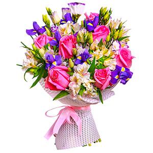 Прекрасный букет +30% цветов с доставкой в Казани