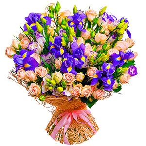Дизайнерский букет +30% цветов с доставкой в Казани