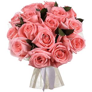 Букет из 15 розовых роз с доставкой в Казани