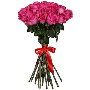 Букет из 27 розовых роз - премиум