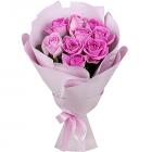 Букет из 9 российских розовых роз