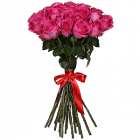 Букет из 25 розовых роз - премиум