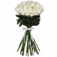 Роза белая 70см - 25, Лента